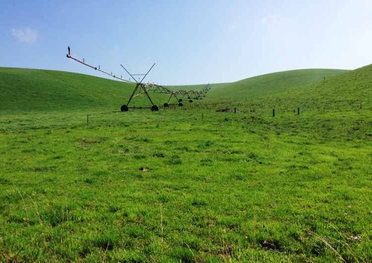When built, this was the steepest land in the southern hemisphere with centre pivot irrigation