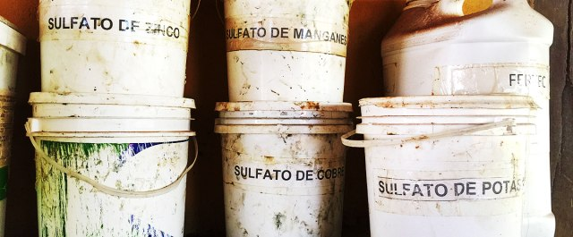 Organic farming does not use chemicals (?). Sulphate buildup can be a problem in these soils, as all of the nutrients they use come in sulphate compounds